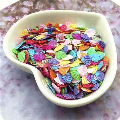 Sequin/Paljetter - 7mm Shell Mix - 10g