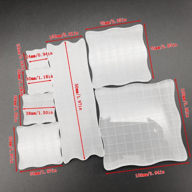 Set 7pcs Acrylic Clear Stamp Block