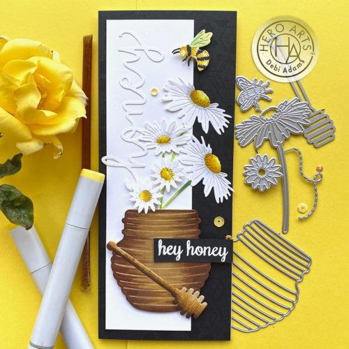 Hero Arts - Bees and Flowers Fancy Dies (DI859)