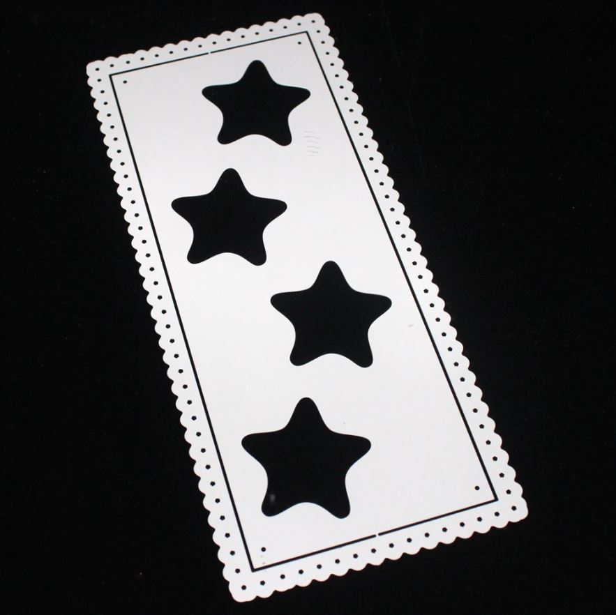Nicole - Slimline Star Border Metal Cutting Dies