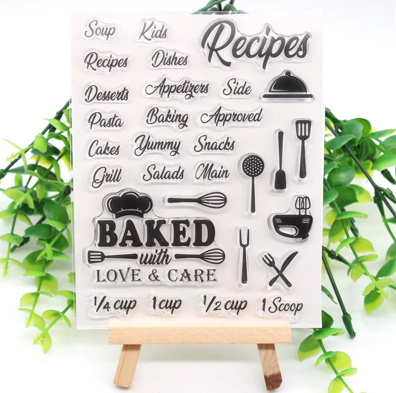 Nicole - Recipe Sentiments Clear stamp