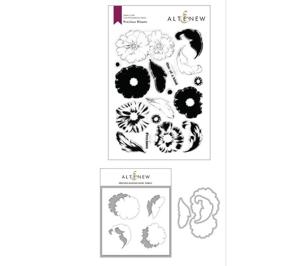 Precious Blooms Stamp & Die & Mask Stencil (3 valg)