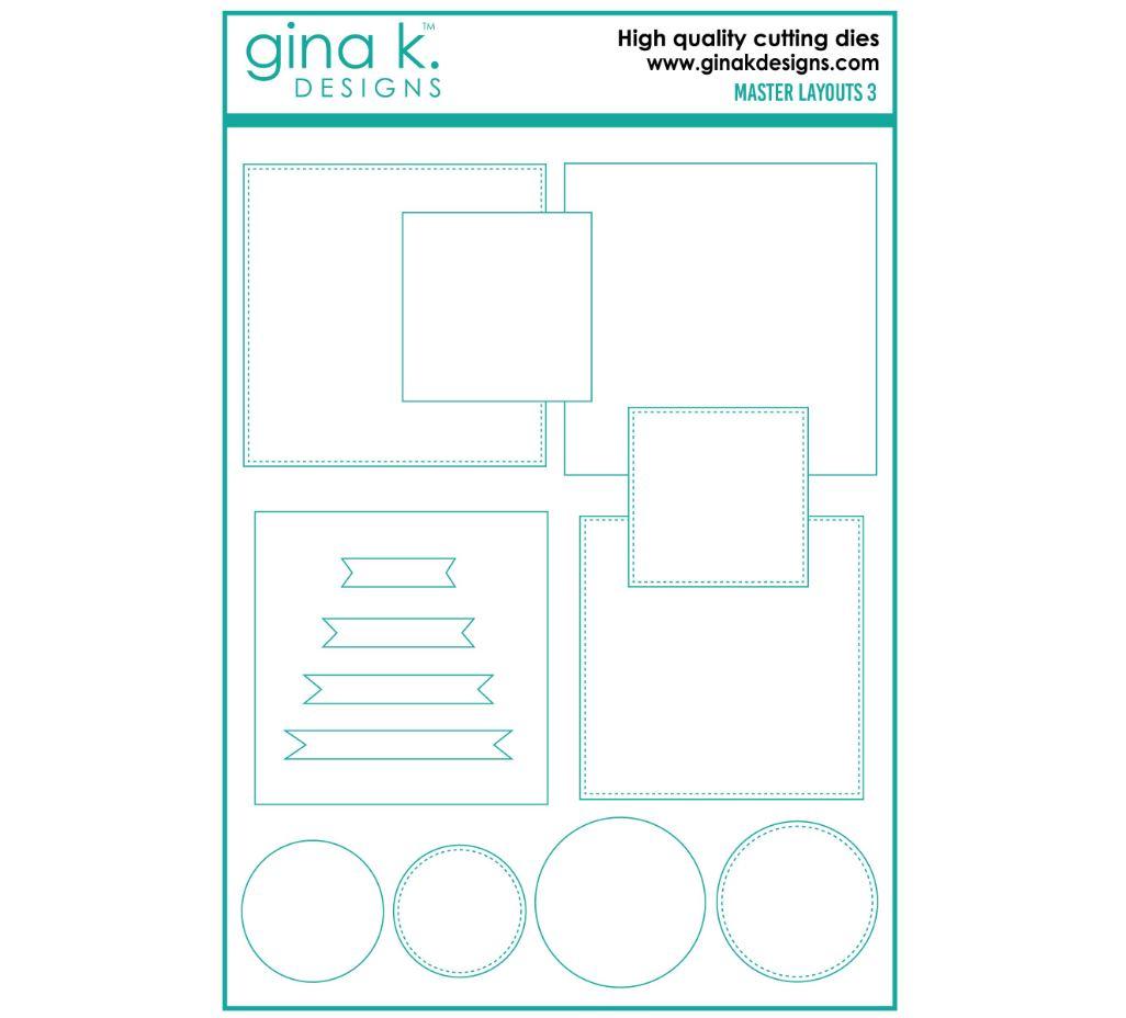 Gina k. DESIGNS - Die - Master Layouts Die set (4 forskjellige)