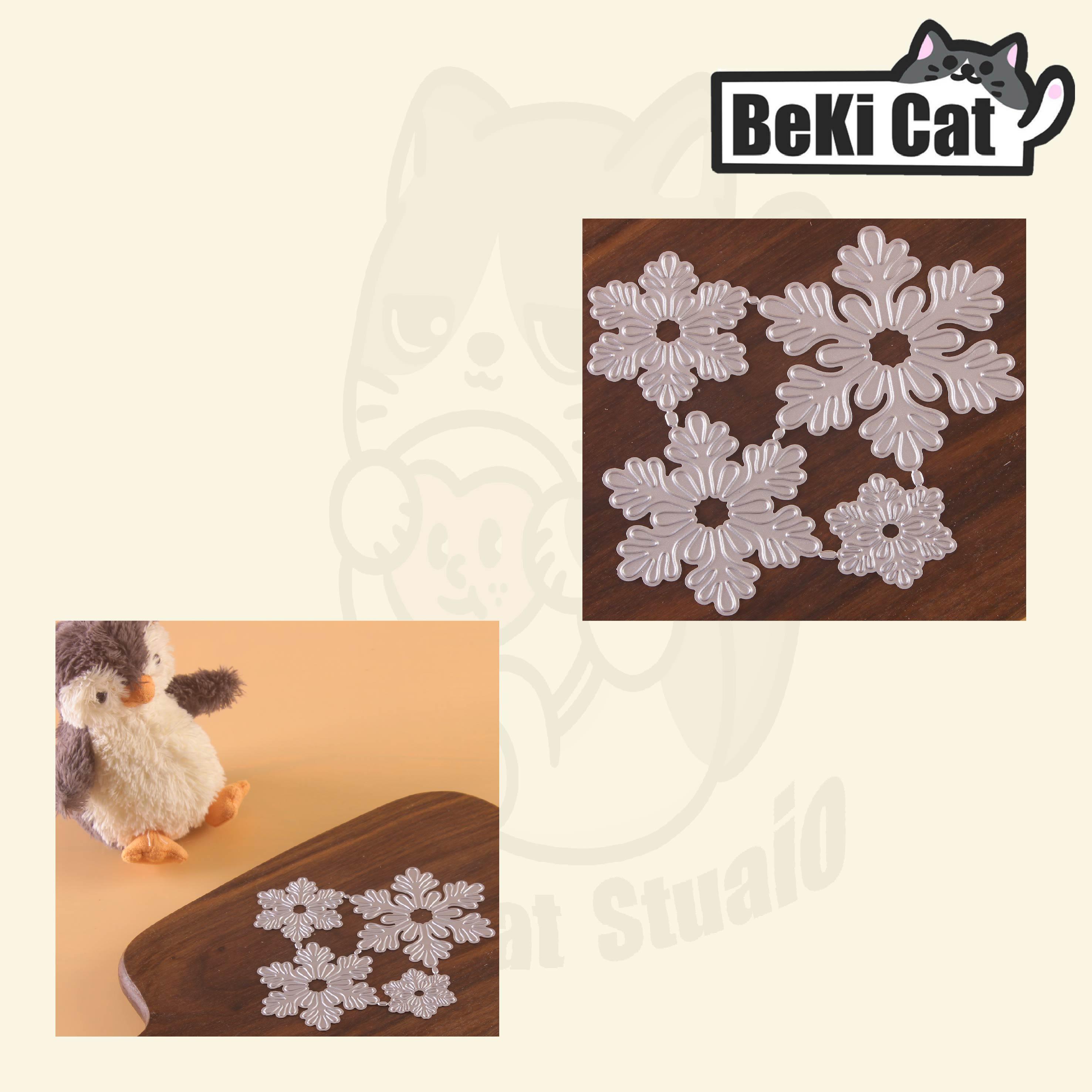 Nicole - 4 pcs Snowflake Set Metal Cutting Dies