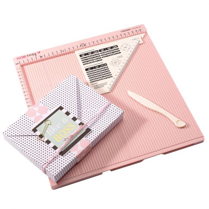 Vaessen Creative - Score Easy board CM/Metric roze