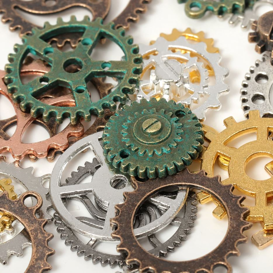 Charms - 50g Mixed Antique Steampunk Cogs & Gears