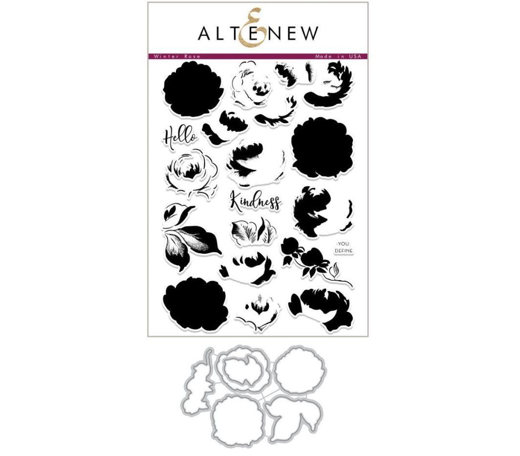Altenew - Winter Rose Stamp & Die (2 valg)