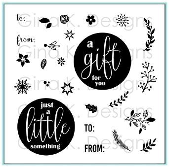 Gina k. DESIGNS - Mini Clear Stamps - Mini Wreath Builder (MINI006)