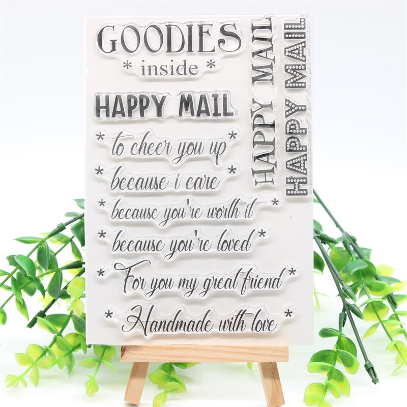 Nicole - Happy Mail Sentiments Clear stamp (3 varianter)