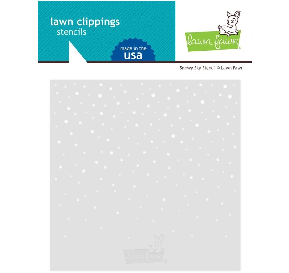 Lawn Fawn - Snowy Sky Stencils