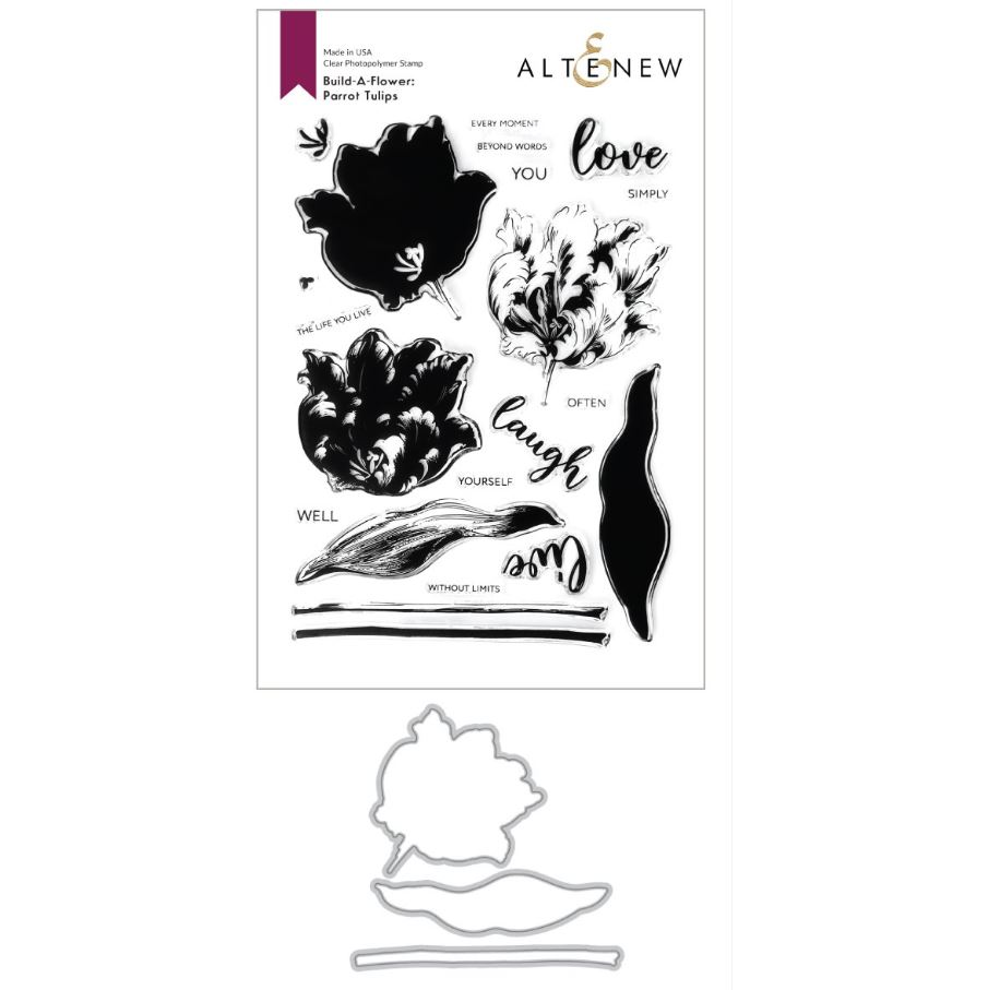 Altenew - Build-A-Flower: Parrot Tulips Layering Stamp & Die Set