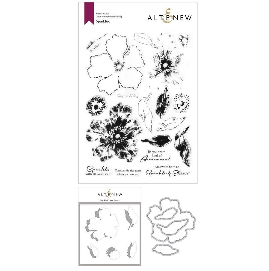 Altenew - Sparkled Stamp & Die & Mask Stencil (3 valg)