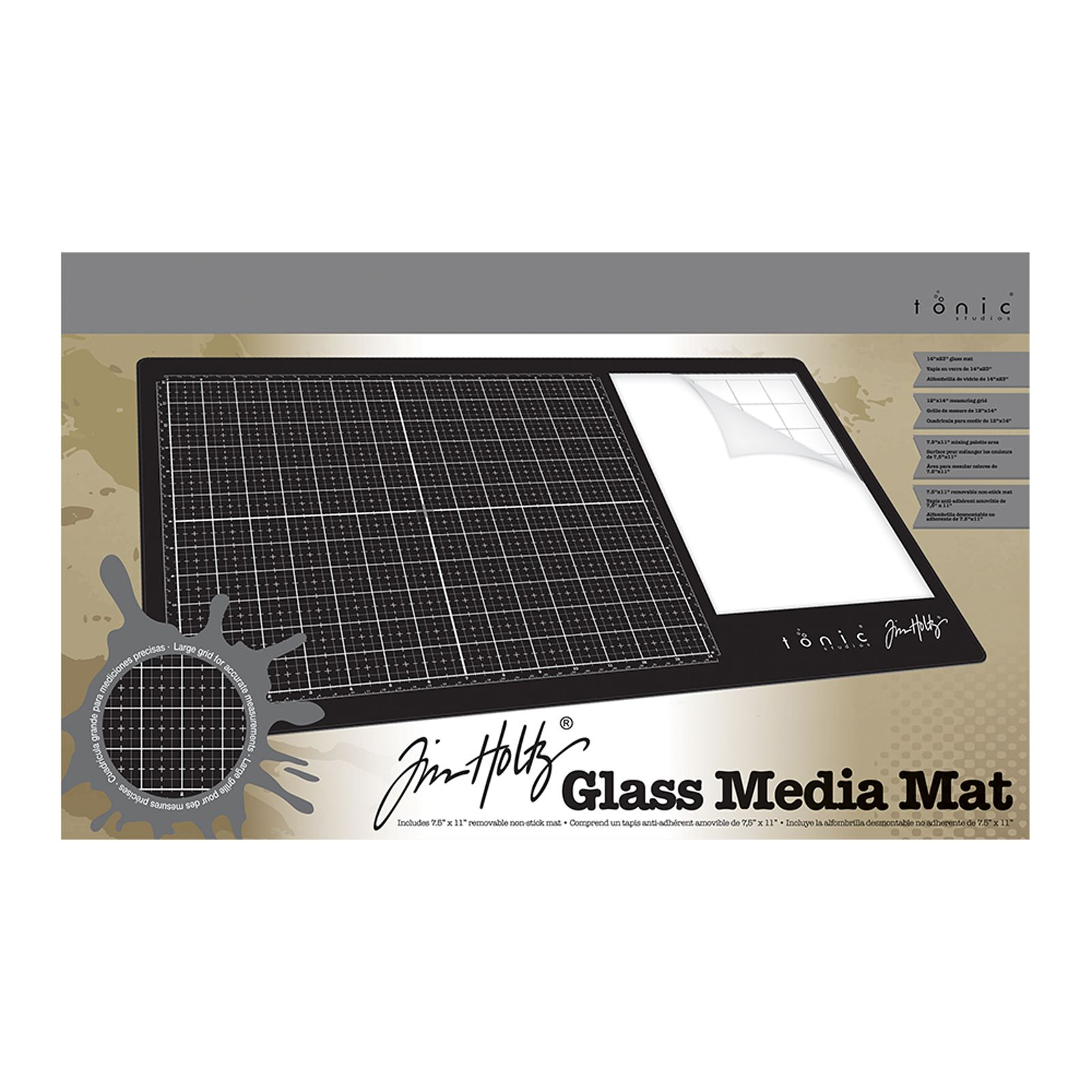 Tonic Studios - Tim Holtz glass media mat (right-handed)