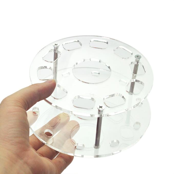 10 Hole Makeup Brush Holder Clear