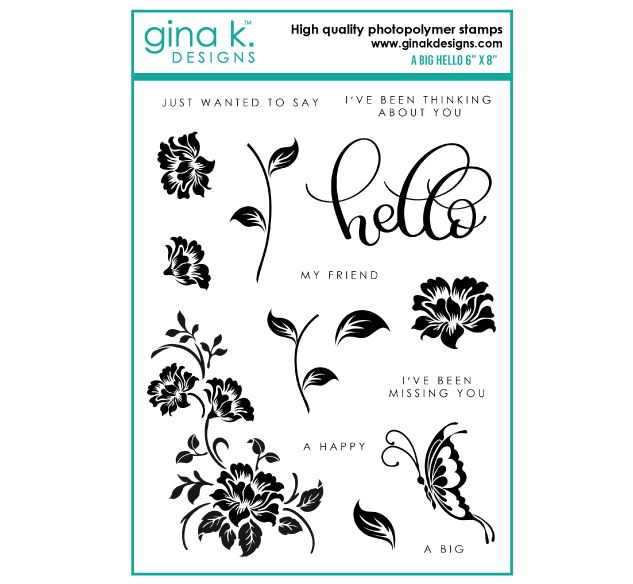 Gina k. DESIGNS - Stamp and Die set - A Big Hello (2 valg)