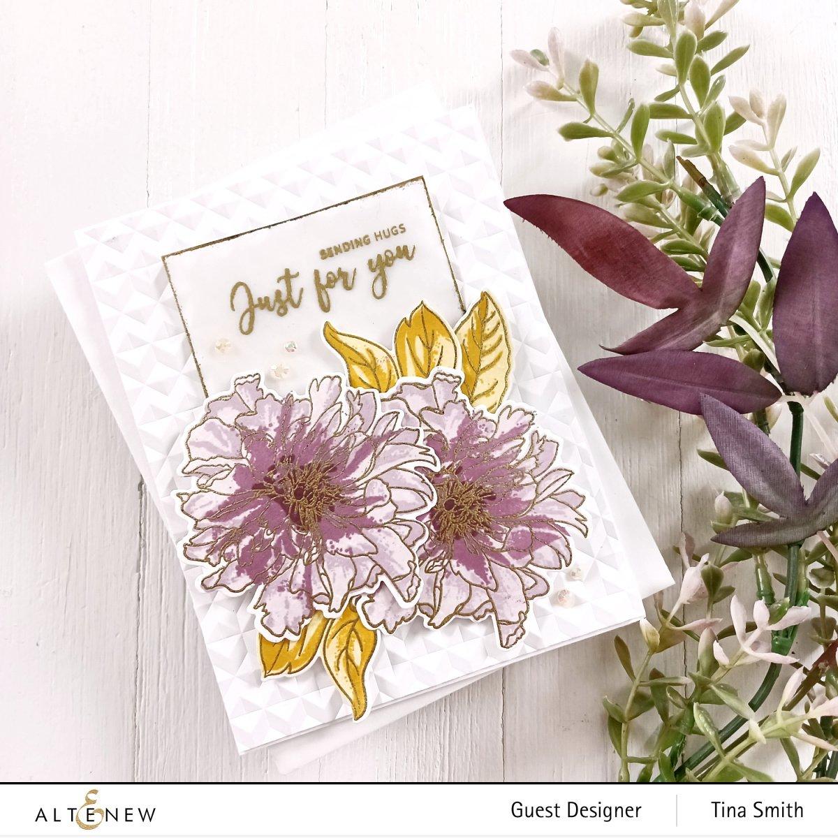 Altenew - Build-A-Flower: Cora Louise Peony Layering Stamp & Die Set