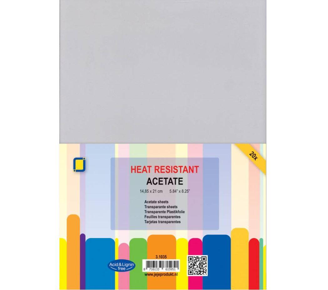 JEJE Produkt - 20 Acetate sheets heat resistant A5 (3.1035)