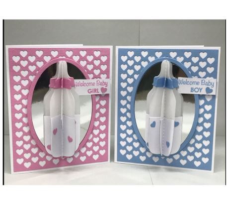 Nicole - 3D Rotating Baby Bottle Metal Cutting Dies