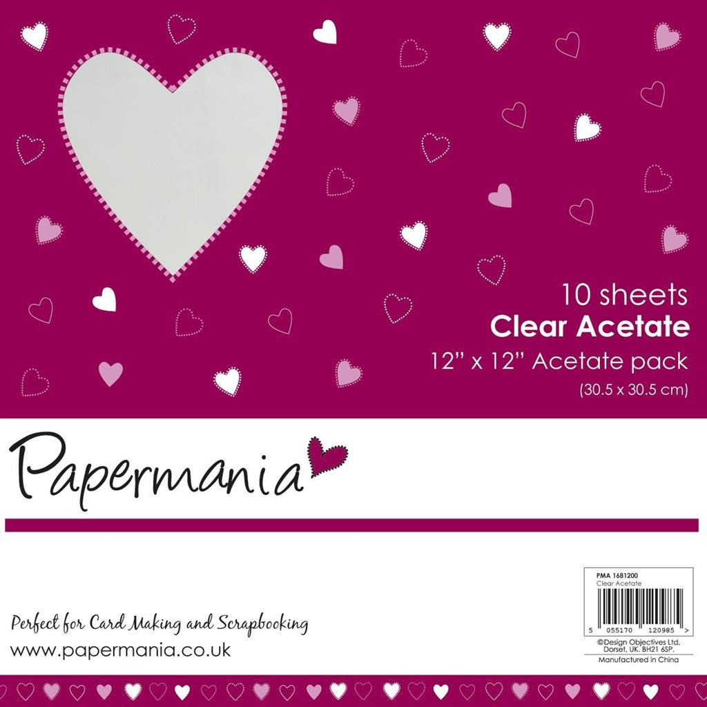 Papermania - 12x12 Inch Clear Acetate (10pk)