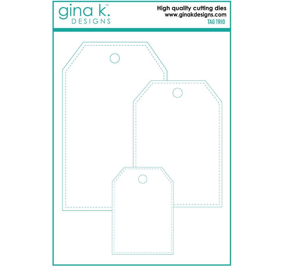 Gina k. DESIGNS - Die - Tag Trio Set  (DIE0076)