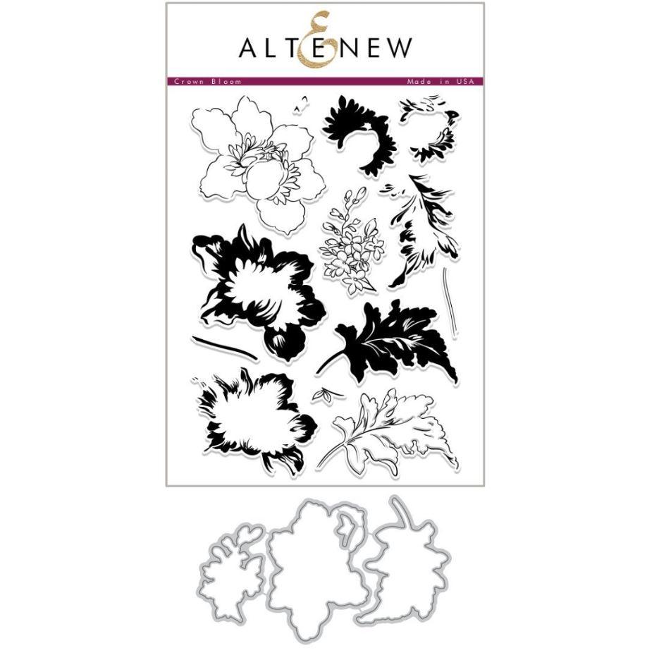 Altenew - Crown Bloom Stamp & Die (2 valg)