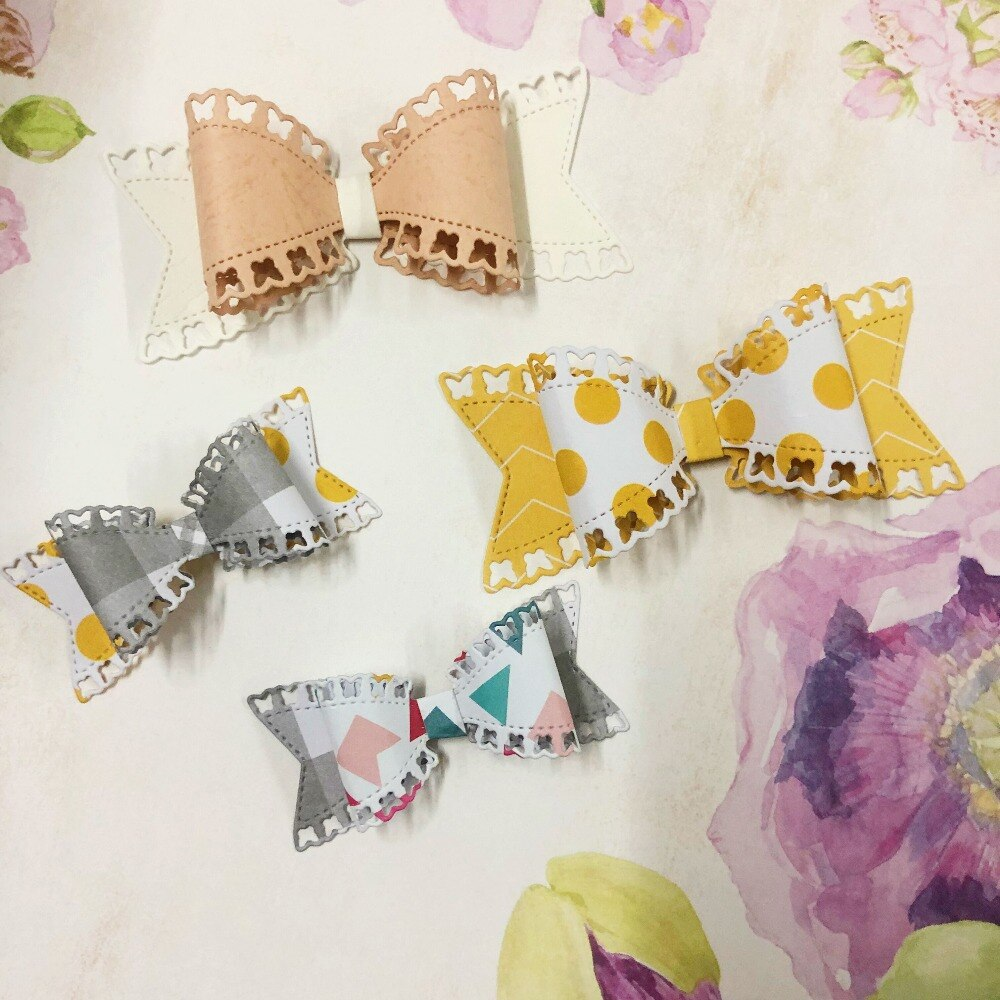 Nicole - Butterfly Bow Metal Cutting Die (velg mellom stor og liten)