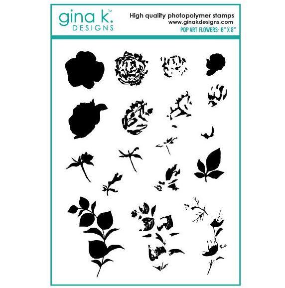 Gina k. DESIGNS - Stamp and Die set - Pop Art Flowers (2 valg)