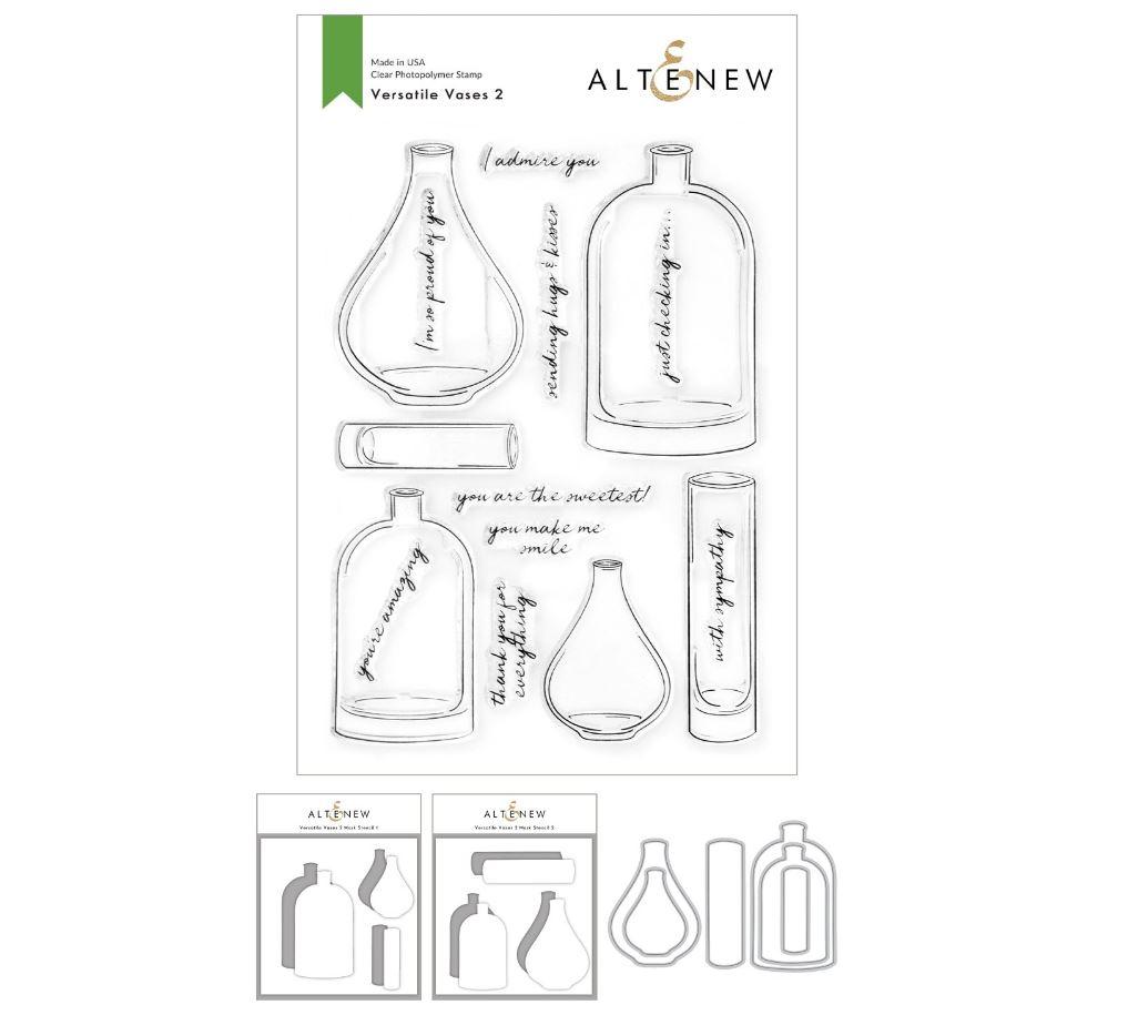 Altenew - Versatile Vases 2 Stamp & Die & Mask Stencil (3 valg)