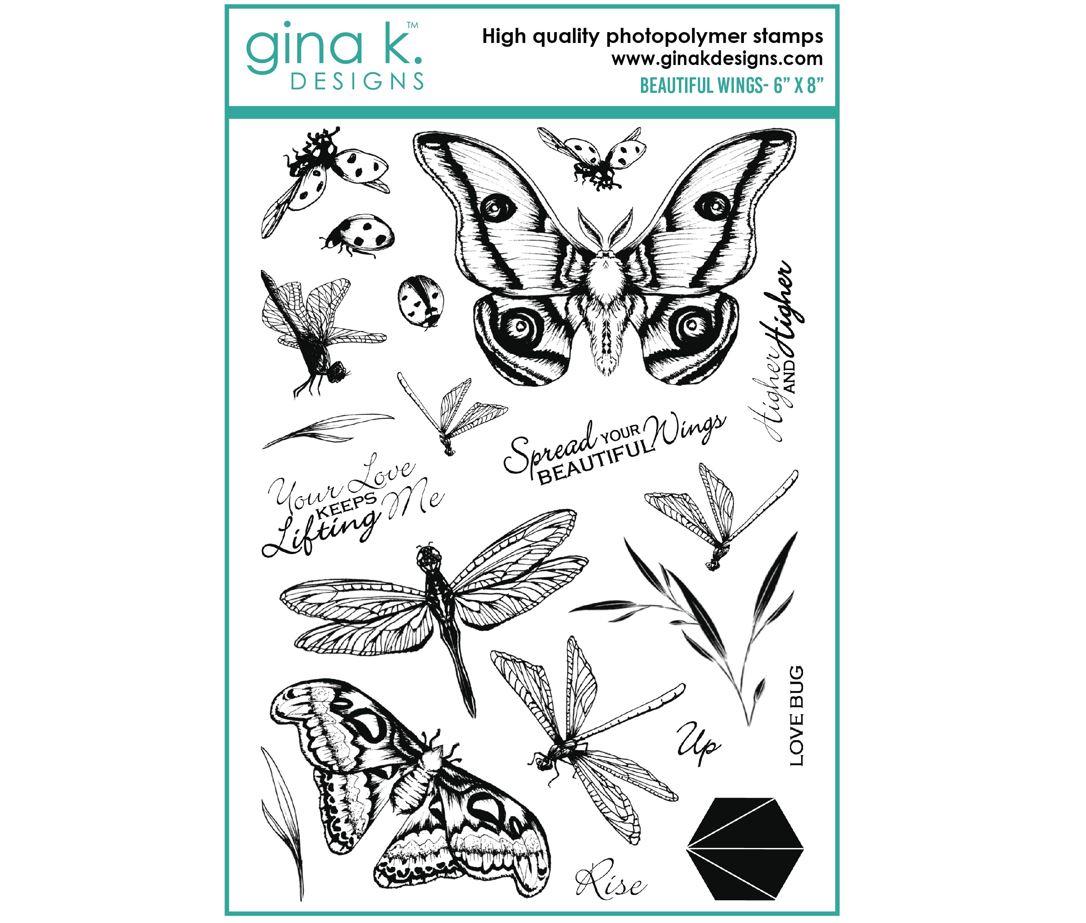 Gina k. DESIGNS - Stamp and Die set - Beautiful Wings (2 valg)