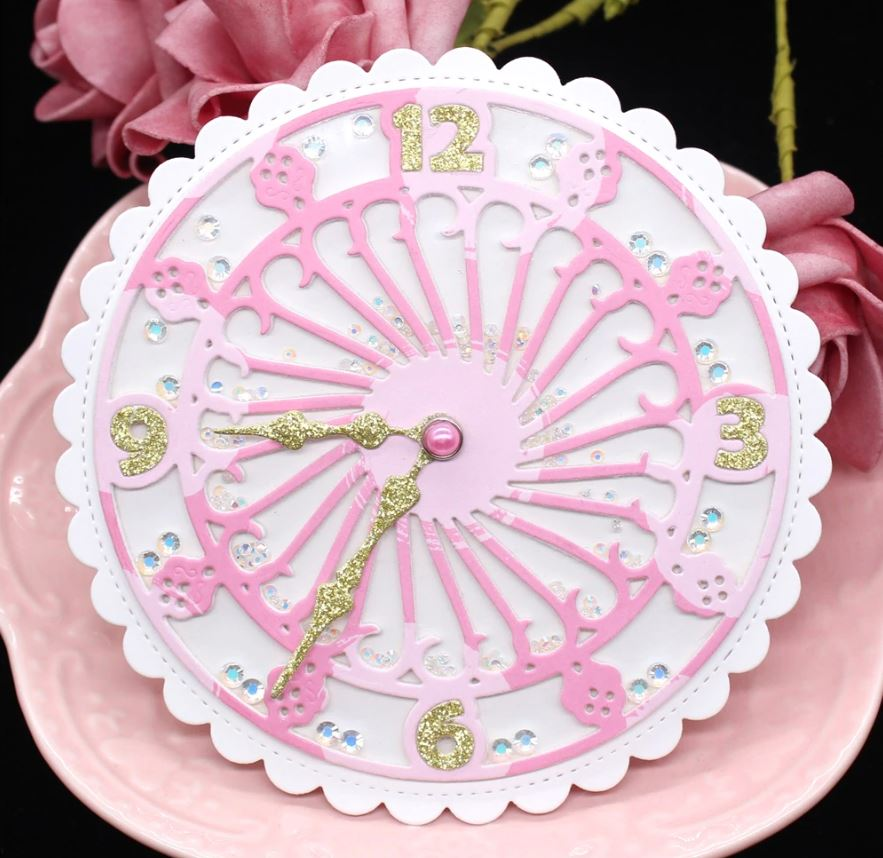 Nicole - Romantic Clock Metal Cutting Dies
