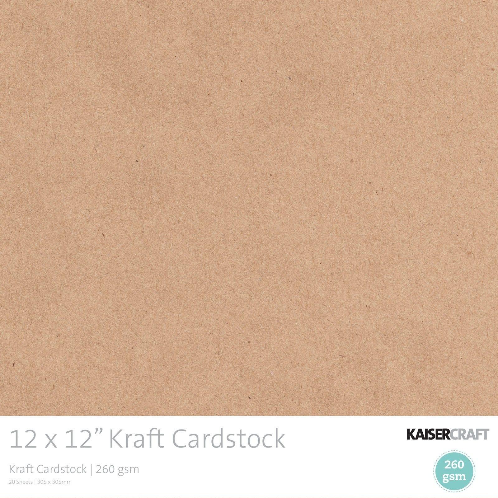 Kaisercraft - Kraft cardstock 30.5x30.5cm 20pcs