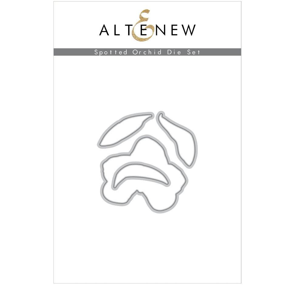 Altenew - Spotted Orchid Stamp & Die & Mask Stencil (3 valg)