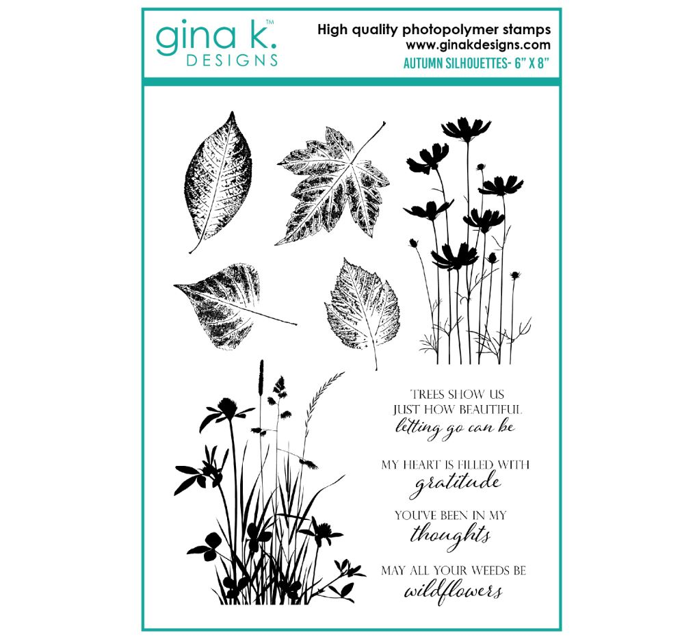 Gina k. DESIGNS - Clear Stamps - Autumn Silhouettes (GKDAS)
