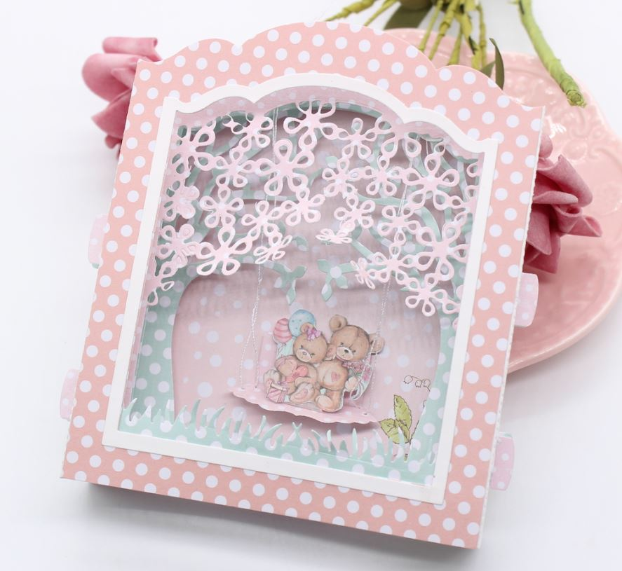 Nicole -  3D Garden Diorama Box Card Metal Cutting Dies