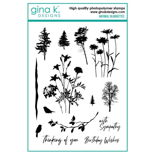 Gina k. DESIGNS - Clear Stamps - Natural Silhouettes (GKDNS)
