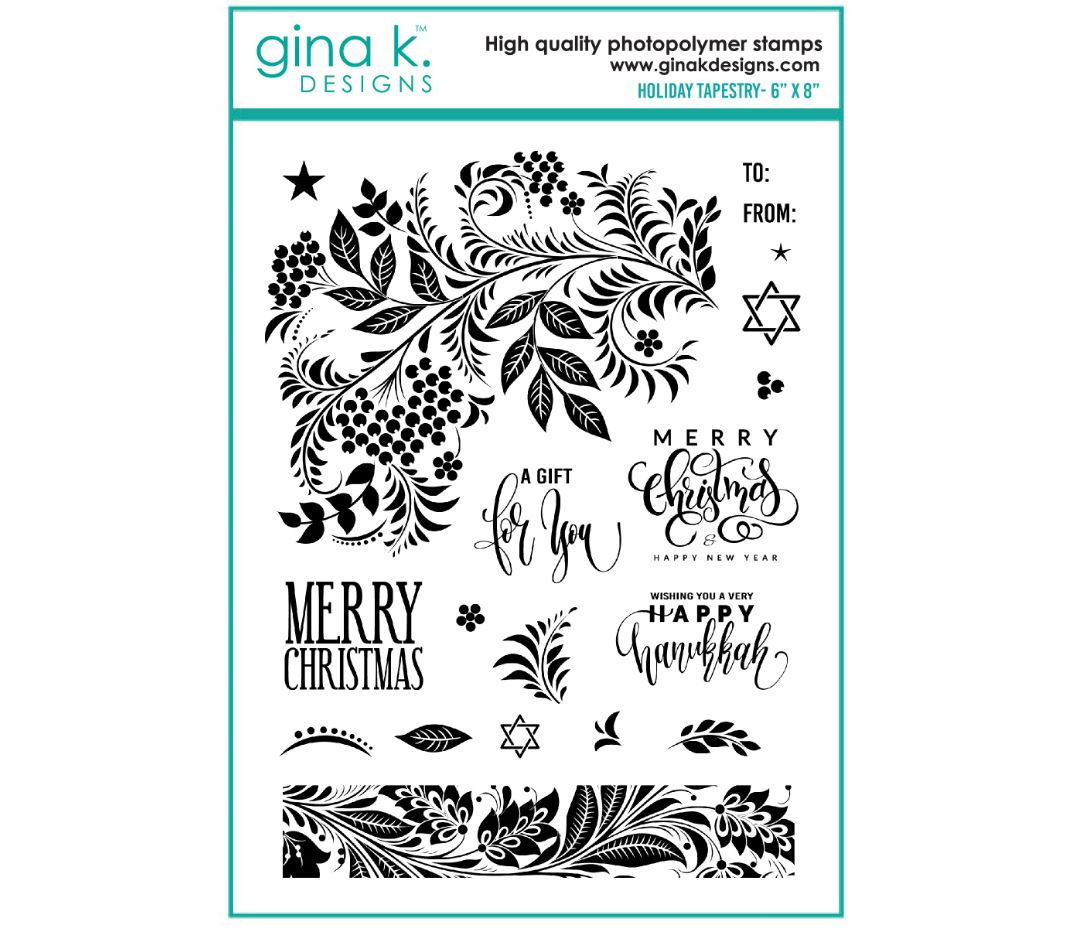 Gina k. DESIGNS - Clear Stamps - Holiday Tapestry  (GKDHT)