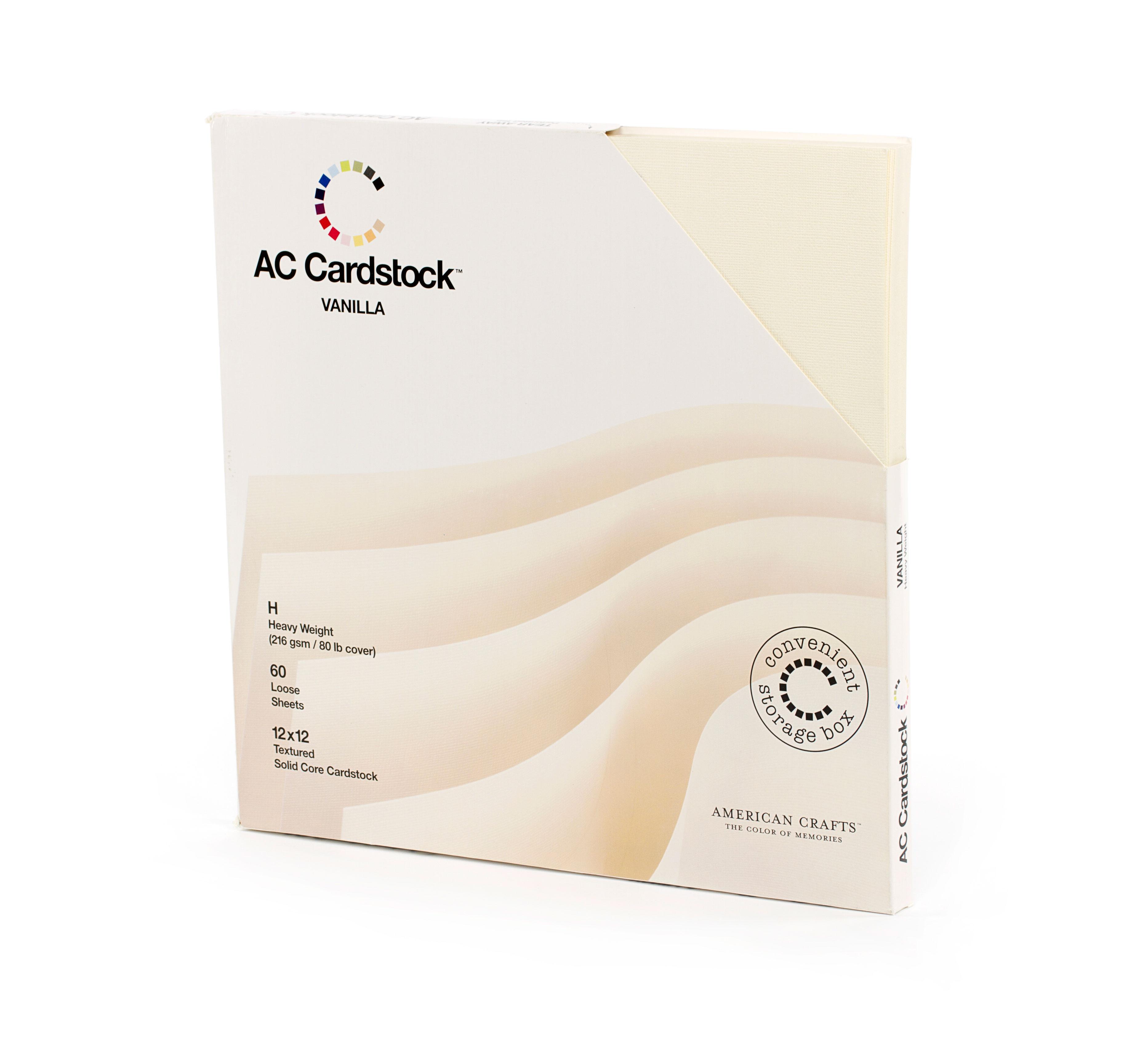 "American Craft - Cardstock pack 12x12"" x 60"