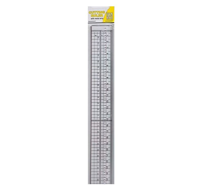 Nellie's Choice 21494H Cutting ruler with metal strip 30cm
