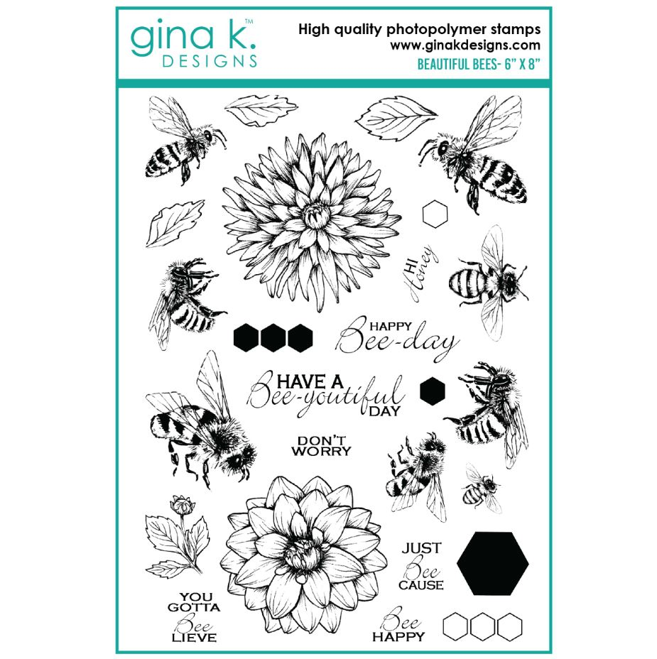 Gina k. DESIGNS - Stamp and Die set - Beautiful Bees (2 valg)