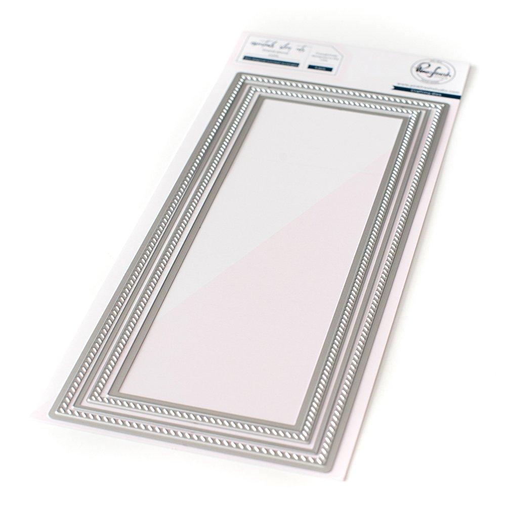Pinkfresh Studio - Essentials: Slim diagonal stitched rectangles