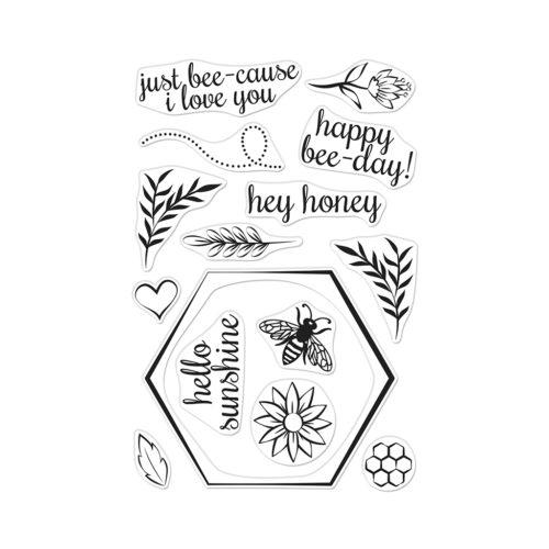 Hero Arts - Bee and Flowers Wreath stamp and die (2 valg)