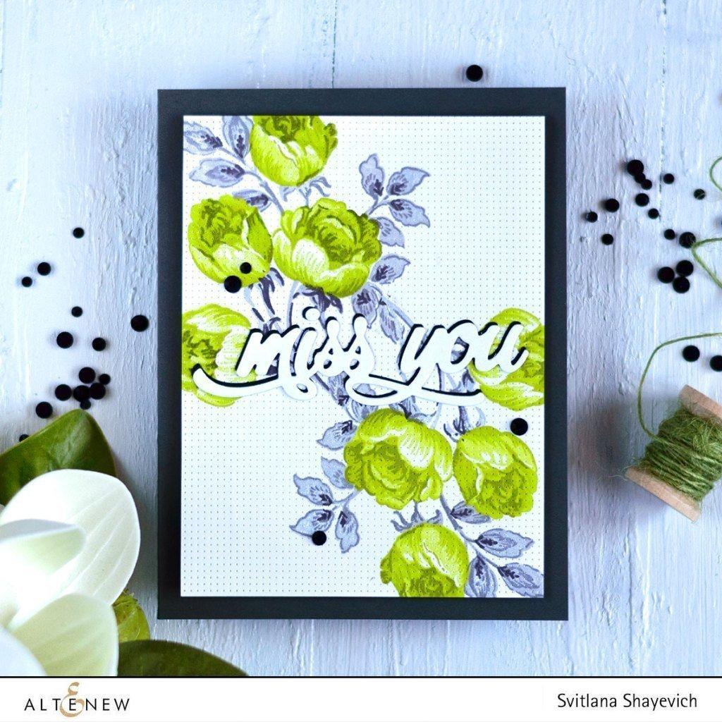Altenew - Sweet Rose Bouquet Stamp & Die (2 valg)