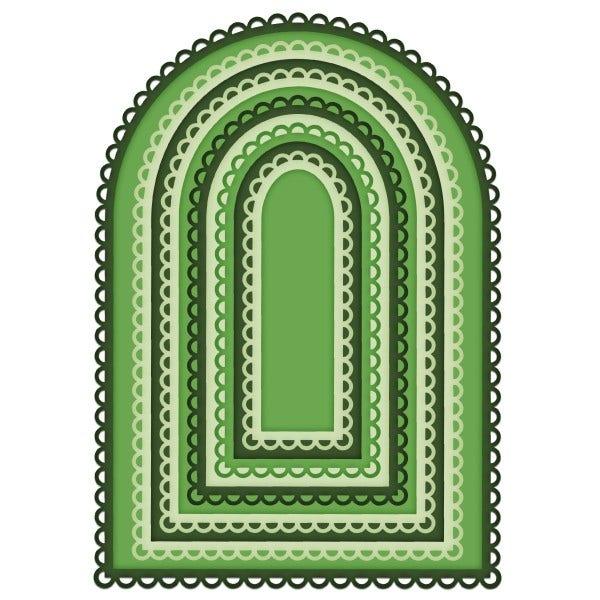Heartfelt - Eyelet Frame Gateway Die (HCD2-7340)