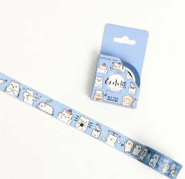 Washi tape - Bear - 15mmx7m (2 varianter)