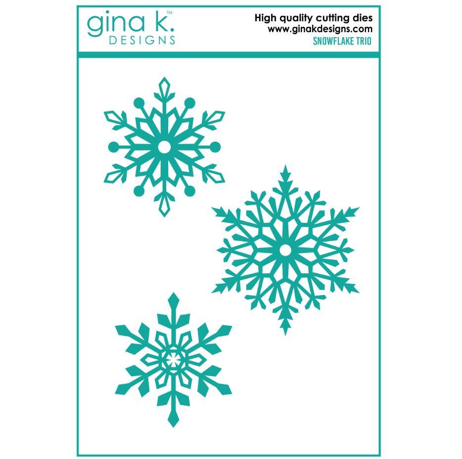 Gina k. DESIGNS - Die - Snowflake Trio Set  (DIE0131)