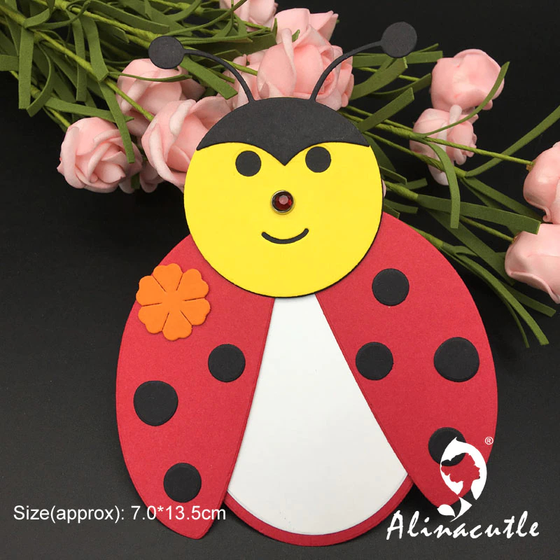 AlinaCraft - Metal Cutting Dies Ladybug Tag