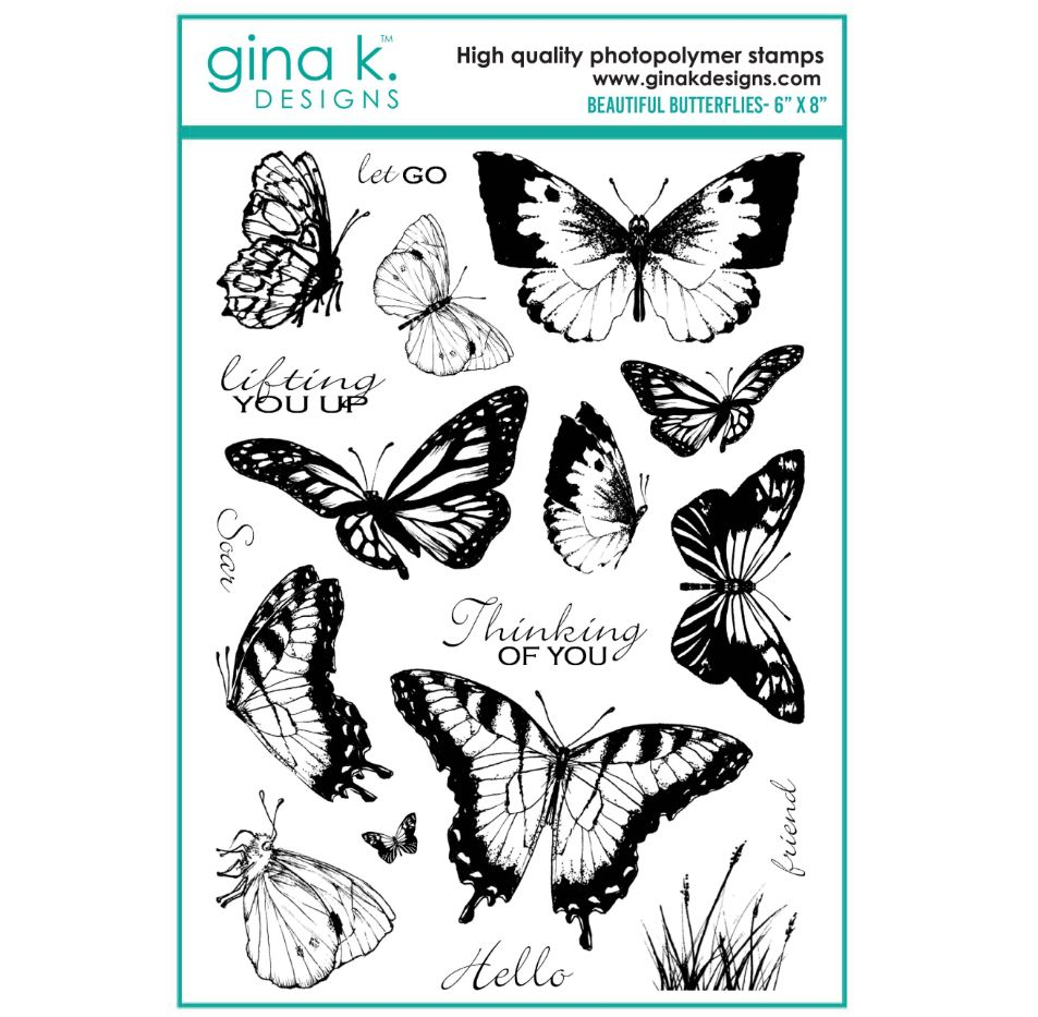 Gina k. DESIGNS - Stamp and Die set - Beautiful Butterflies  (2 valg)