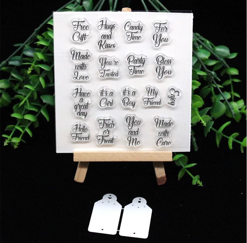 Nicole - Tiny Gift Tags Clear Stamp and Cutting Dies (5 forskjellige)