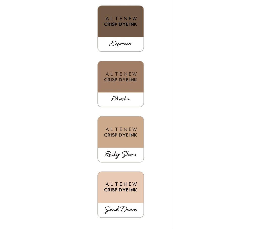 Altenew - Coffee Break Crisp Dye Ink Mini Cube 4 Set
