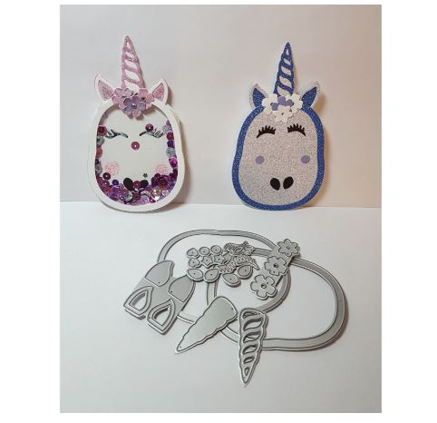 Nicole - Unicorn Shaker Face Metal Cutting Dies